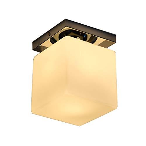 YANQING duurzame plafondlampen moderne eenvoudige glas plafondverlichting, plafond lamp voor ingang hal ingang, warme plafondverlichting kroonluchter plafondlampen (Maat: 15 * 20CM), kleur:11 * 14,5 cm