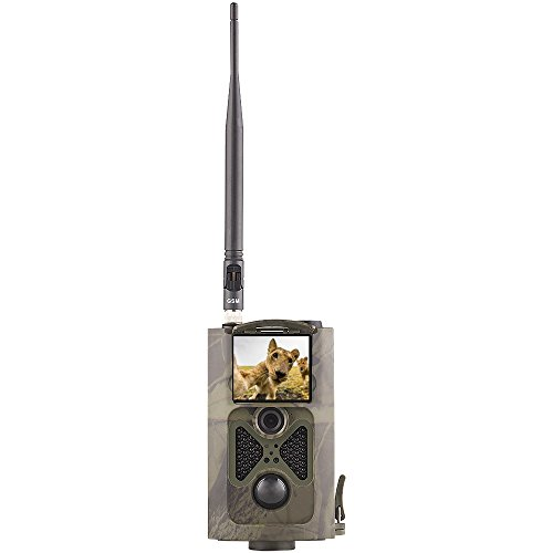 YTLJJ HC-550G 3G Wildkamera Fotofalle 16MP 1080P mit Handy übertragung, Jagdkamera 3G GSM GPRS 30 Pcs Low-Glow 940nm IR-LEDs, Infrarot-Nachtsicht 20m, IP54 wasserdichte Enthält 32G SD-Karte