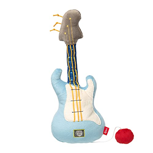 sigikid, Jungen, Vibrations-Rassel Gitarre, Papa & Me, Blau, 41923