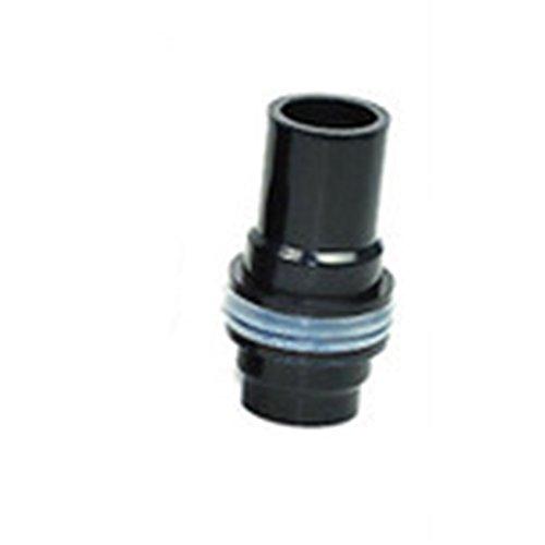 Wenken Aquarium-Wasserrohrverbinder, auslaufsicher, gerades Gelenk, sechseckig, glatter Abflussverbinder (schwarz)