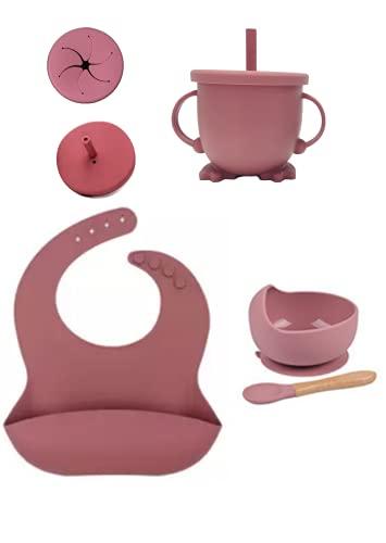 Silicone Baby Feeding Set (Pink)