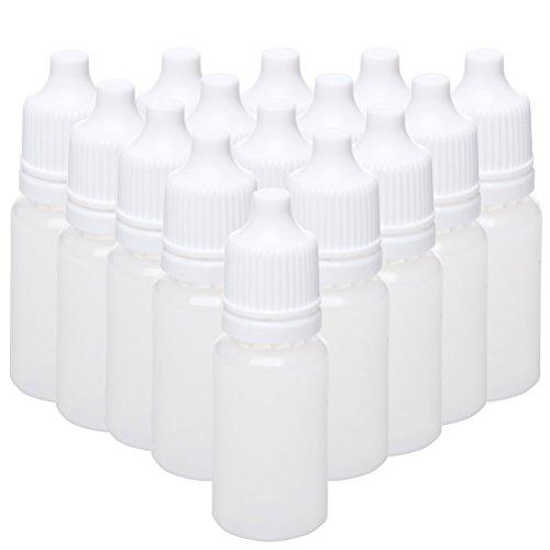Ofoen 50 Stück weiße Tropfflaschen, 10 ml Flexible Liquid Flasche