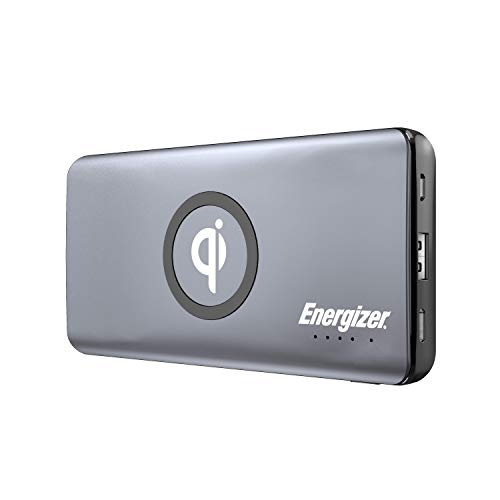 Energizer Ultimate 10000 Series, 10W Qi Fast Wireless Charging, High Capacity 10000mAh Lithium Polymer, Fast Charging Power Bank w/Power Delivery 3.0 for iPhone, Samsung, etc QE10005CQ