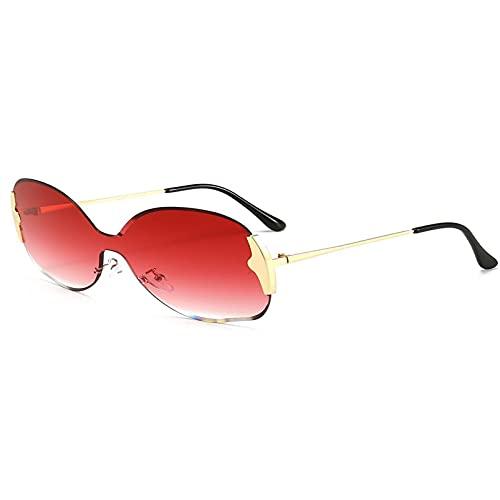 AMFG Gran Marco De Una Pieza Gafas De Sol Retro De Una Pieza Damas De Sol Gafas De Sol De La Calle Partido De Negocios Gafas Al Aire Libre (Color : A, Size : M)