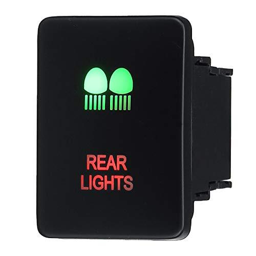 LICHONGUI Conjuntos de pulsación LED de 12V LED con Cables Conector Green & Redlighting para Prado RV4 Hilux Landcruiser (Color : K)