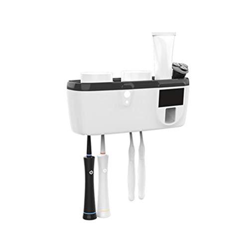 Moda Exprimir pasta de dientes automático Smart Device Cepillo de dientes esterilizador UV Esterilización eléctrico montado en la pared de pasta de dientes cepillado de dientes Red Net Copa Caja de al