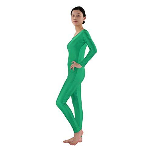 Herren Damen Ganzkörperanzug Lange Ärmel Bodysuit Catsuit Dancewear Atmungsaktive Second Skin Suit Zentai Catsuit Kostüm - Grün, 2XL