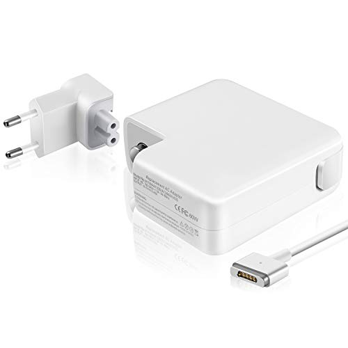 Wallin Mac Book Air Charger 45w mag Safe 2 Adaptador de Corriente Compatible con Pantalla Retina MacBook Air 13 (2012-2015) Reemplazo de Forma magnética 2 T.