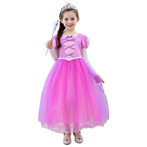 【 とっても可愛い 】monoii ラプンツェル ドレス 子供 衣装 コスプレ プリンセス コスチューム キッズ ハロウィン お姫様 コス 仮装 女の子 d196