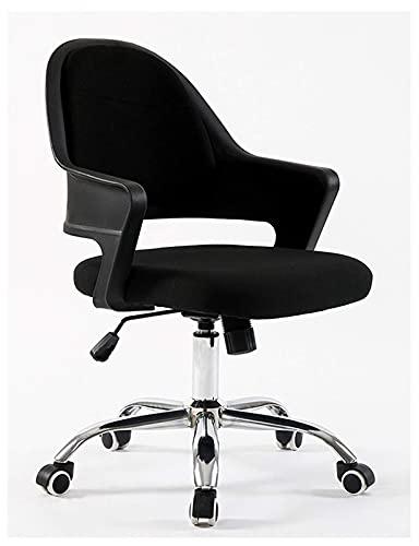 Silla elegante de la oficina del diseñador Sillas de confort de la casa giratoria sin respaldo Silla de escritorio ergonómico para las chicas del espacio de trabajo, negro   Código de productos básico