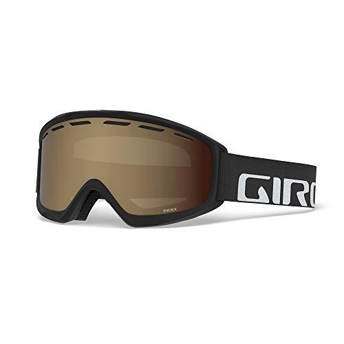 Giro Index OTG Adult Snow Goggles - Black Wordmark Strap with Amber Rose Lens (2021)