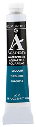 Grumbacher Academy Watercolor Paint, 7.5ml/0.25 Ounce, Turquoise (A213)