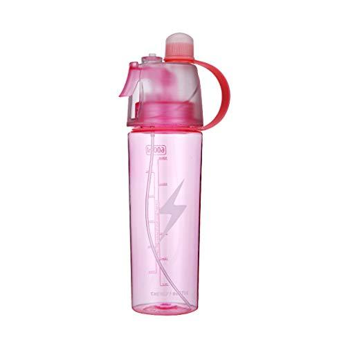 La Botella De Spray Reutilizable De La Copa Deportiva De 600 Ml Es Robusta Y Duradera Adecuada para Yoga Y Fitness, Viaje De Campamento Al Aire Libre No Tóxico E Inofensivo(Color:Rosa)