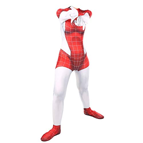 SPIDERMANHTT Weibliches Abendkleid Prom Kostüm Cosplay Superheld Spiderman Kostüm for Kinder Erwachsene Mädchen Halloween-Overall-Thema-Partei-Strumpfhosen 3D Print Spandex Lycra