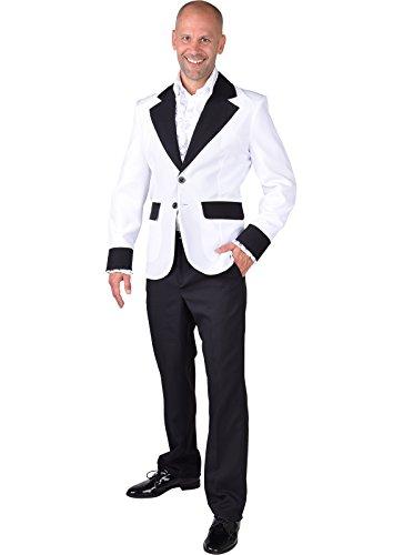 Witte jas - Show/Teddy Boy / White Christmas / Hollywood - XXL 50