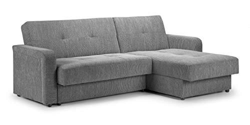 Honeypot - Kair - Corner Sofa Bed - Double Storage - Large Sleeping Area Sofabed (Grey)