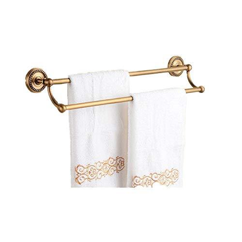 Handtuchhalter Antike Kupfer Doppelbarren Twist Handtuchhalter Hängen Handtuchhalter Bronze Bad Bad Stanzen 50Cm