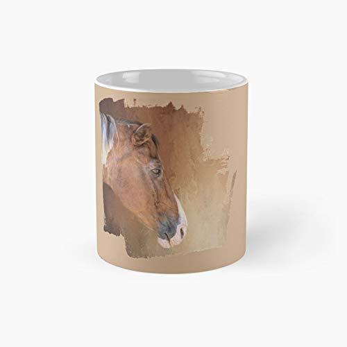 Brown And White Pinto Classic Mug | Best Gift Funny Coffee Mugs 11 Oz