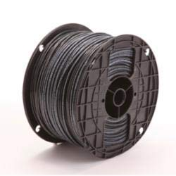 Approved Vendor B04009 Type XHHW-2 Building Wire, 14 AWG Stranded Copper Conductor, 500 ft Coil L, Black