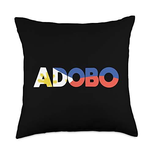 Adobo Filipino Pinoy Adobo Filipino Pride Chicken Philippines Sinigang Pinoy Gift Throw Pillow, 18x18, Multicolor