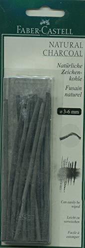 Faber-Castell FC129198 - Set de carboncillos (3-6 mm, 20 unidades)