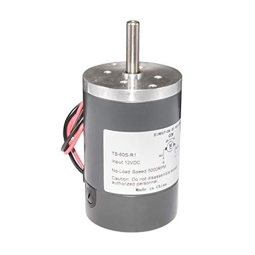 Pangocho Jinchao-Motor de Corriente Continua Motor de Engranaje de imán permanenr de DC, Motor eléctrico Diameter DC de Alta Velocidad de 38/50/60 mm, 12V 24V 200-5000 RPM, Fácil de Instalar