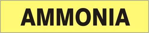 Ammonia – Nashville-Davidson Mall Max 69% OFF Pipe Marker - 6 Vinyl- Adhesive Units