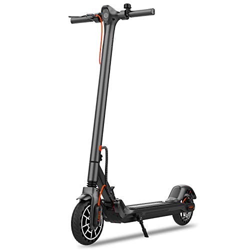 "Hiboy MAX V2 Electric Scooter - 8.5"" Solid Tires, Up to 17 Miles & 18.6 MPH, Front & Rear Suspensions, One Step Fold Electric Scooter for Adults, Commute and Travel"