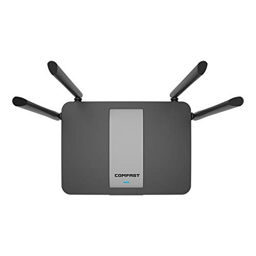 WIFI Router 11AC 1200Mbps Gigabit Dual-Band Wireless wifi repeater With 4 High Gain Antennas Wider Coverage for home Easy setup (Color : A)