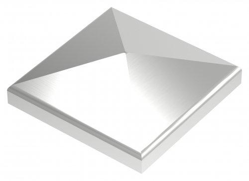 Pyramidenkappe 60x60mm, geschliffen, Ecken verschweißt und geschliffen