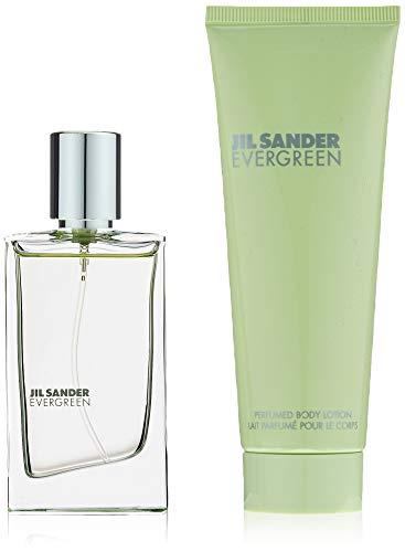 Jil Sander Evergreen Geschenkset (Eau de Toilette Spray, Body Lotion), 105 milliliters