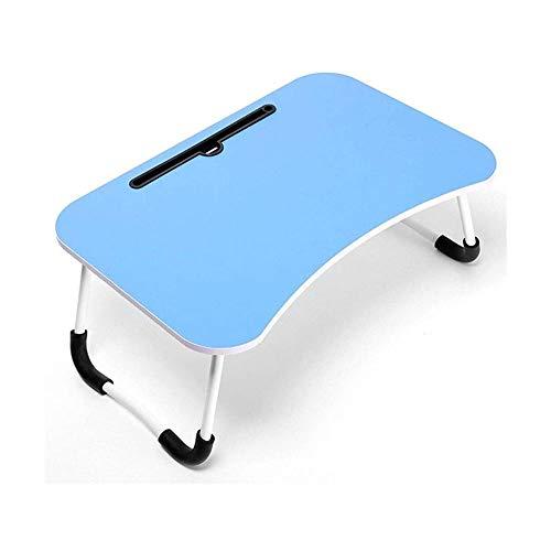 SQQSLZY Tabla portátil Cama, Bandeja Desayuno con Patas Plegables, Lap Desk portátil Permanente for el Desayuno, Notebook, Libros, Mini Tabla (Color : Blue)