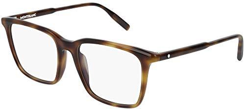 Montblanc Gafas anteojos MB0011O 002 habana marco de plástico del tamaño de 52 mm de gafas de sol hombre
