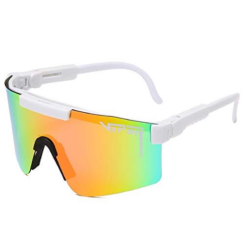 HUALUWANG PitViper, Amigo Cercano, Deportes Polarizados Gafas de Sol, Utilizadas para Ciclismo, Pesca y Golf. (Color : A)