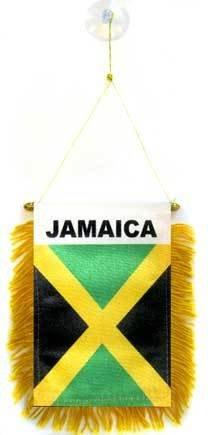 AZ FLAG Wimpel Jamaika 15x10cm - JAMAIKANISCHE Mini Flagge 10 x 15 cm - Auto Pennant spezielle Auto