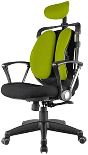 JIADUOBAO Silla de ordenador, ergonómica para computadora, cómoda silla doble, silla para el hogar, silla para adultos (color rojo)