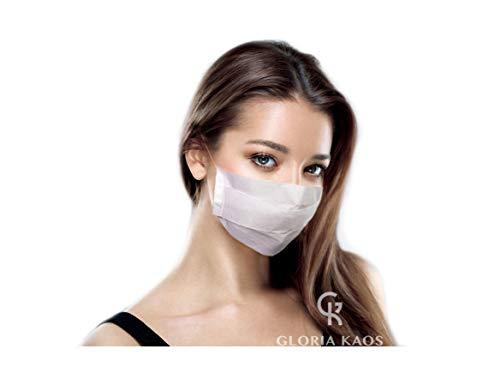 Pack de 100 Máscaras Desechables Faciales de Papel Profesional de 1 Capa, Desechables Para el Rostro, con Elástico Para las Orejas