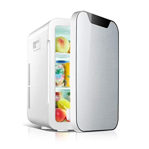 Petit Réfrigérateur Atmosphérique 20l Voiture Mini Petite Maison Étudiant Dortoir Double Usage Réfrigération Location Unique Usage Deux Couleurs 28 * 34 * 44 cm (Color : Silver)