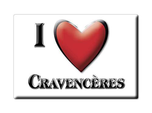 Enjoymagnets CRAVENCÈRES (32) Souvenir IMANES DE Nevera Francia Midi PYRÉNÉES IMAN Fridge Magnet Corazon I Love
