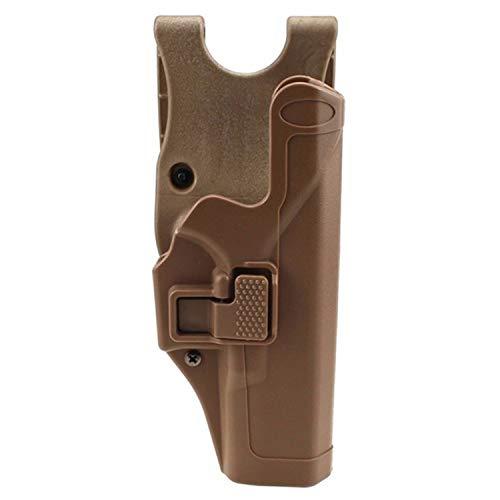 Gexgune Tactical Glock Holster Militärische Verschleierung Stufe 2 Rechtshänder Paddel Gürtel Pistole Pistolenhalfter für Glock 17 19 22 23 31 (Tan)