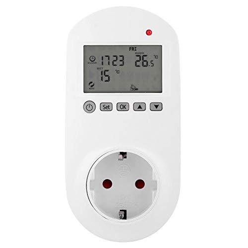 Thermostat Steckdose Wireless Steckdosenthermostat - Haofy Digital Steckerthermostat mit Zeitschaltuhr, Digitales Steckdosen-Thermostat mit LCD-Display für Heiz- & Klimageräte
