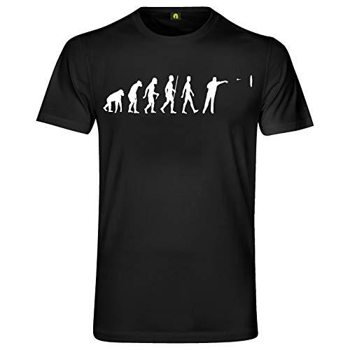 Evolution Dart T-Shirt | Sport | Scheibe | Pfeil | Dartpfeile | Turnier Schwarz L