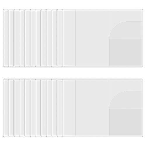 Jubaopen 24 Stück Reisepasshülle Transparent Passport Holder Schutzhülle klar Reisepass Schutzhülle Personalisiert Kunststoff Schutzhülle für Kreditkarte Führerschein Passport Ausweis (19.1x13.4cm)