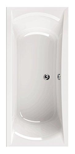 'aquaSu® Acryl-Badewanne queDa, Badewanne, Acrylwanne, Bad, Badezimmer, Weiß, 180 x 80 cm