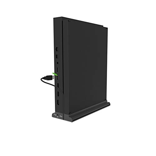 Guomao Xbox One X Ventilador de refrigeración Inteligente Base Vertical Host Juego Radiador Soporte (Color : Negro)
