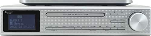 Soundmaster Stereoanlage UR2195SI analog und digital, 6 W, tragbar (DAB+, FM, Player, CD, CD-R, CD-RW, 6 W, LCD), silberfarben
