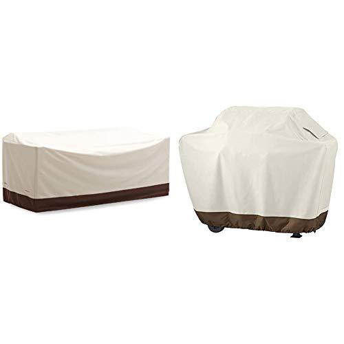AmazonBasics Abdeckung für 3-Sitzer-Sofamodell Griffen & Grillabdeckung, Gurte mit Click-Verschluss, Gr. M