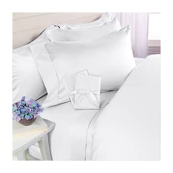 White Solid Deep Pocket Bed Sheet Set 1000 Count Egyptian Cotton Sheet