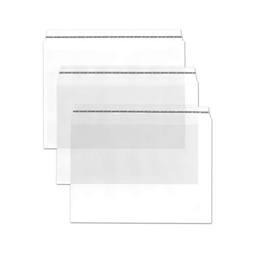 Durchsichtige Briefumschläge in B6 Plus - 50 Stück - Haftklebung - glasklare Post-Umschläge aus Transparentfolie - 19,0 x 13,0 cm - ideal für Werbung, Einladungen und Präsente - von Gustav NEUSER