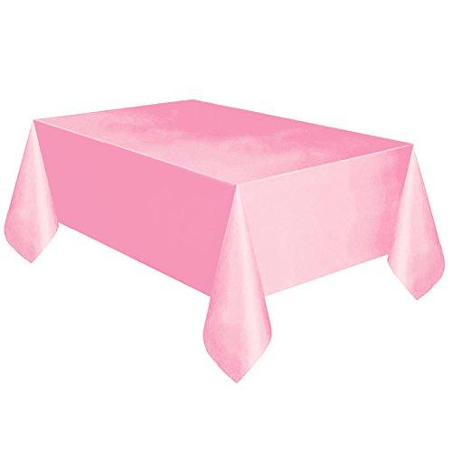 Qingsb Nappe rectangulaire de salle à manger - Couleur unie - Décoration de fête d'anniversaire - Rose